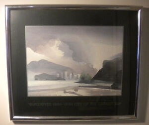 NICE TONI ONLEY FRAMED PRINT VANCOUVER BC FROM SPANISH BANKS