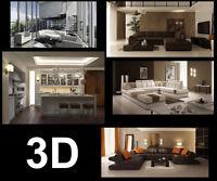 Service -Modélisation 3D, Illustration Architecturale, concept