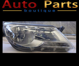VW Tiguan 2009-2011 Headlight HALOGEN Passenger Side 5N1941032AC