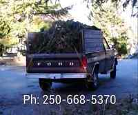 YARD WASTE REMOVAL - $35.00 FLAT RATE - NANAIMO ONLY