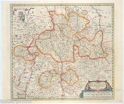 Hildesheim - Niedersachsen - Kupfer-Karte-Map - Janssonius 1640