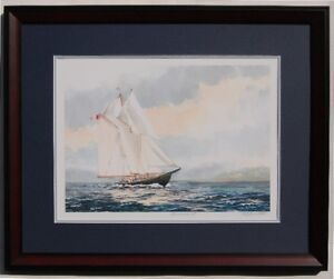 FRAMED PRINT OF FAMED BLUENOSE II