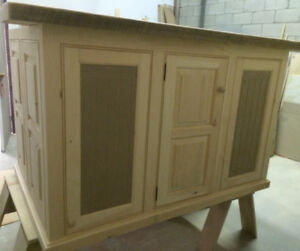 Custom Cabinetry Media Entertainment Armoire Pantry Island