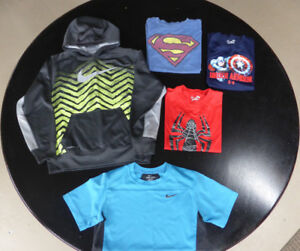 5 Tops: Under Armour/ Nike/Old Navy - Youth Large