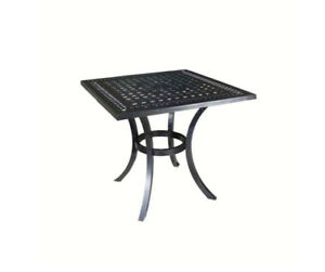 "Pure Aluminum 32"" square outdoor dining table by Suncast"