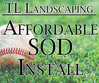Sod installation, lowest price with warranty - financing option