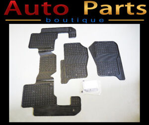 Land Rover LR3 LR4 OEM Rubber Floor Mats 1st & 2nd Row LR006238