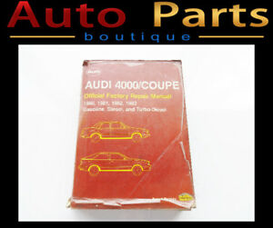 AUDI 4000/COUPE OFFICIAL FACTORY REPAIR MANUAL 1980 1981 1982