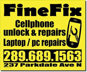 CELLPHONE REPAIRS/UNLOCKING