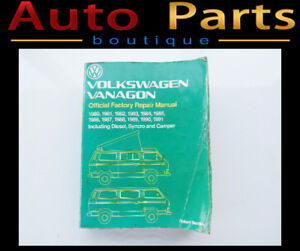 VOLKSWAGEN VANAGON OFFICIAL FACTORY REPAIR MANUAL 1980-1991