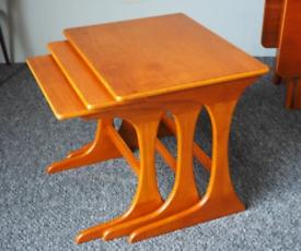 Vintage Teak Coffee Table Nest