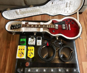 Gibson Les Paul Studio + Pedals + Cables & More