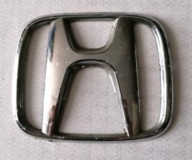HONDA Integra 1991-1993 FRONT symbol SILVER BADGE 75mm Good condition