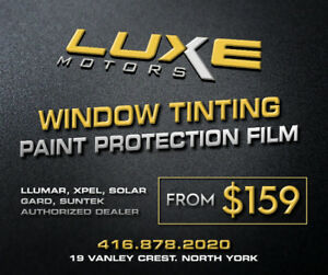 $159 ***WINDOW TINTING & PAINT PROTECTION***  $159
