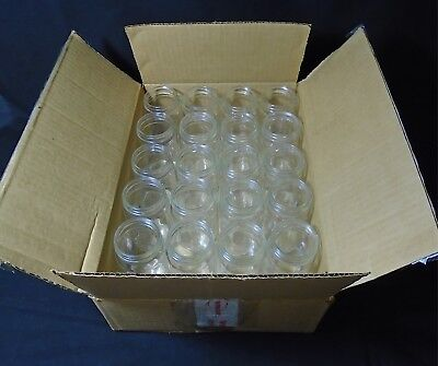 Qorpak Glass 62 X 109mm 8oz Clear Standard Wide Mouth Bottle Lot Of 20