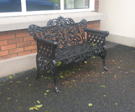Heavy duty cast iron garden benches