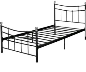 Brand new black single metal bed frame