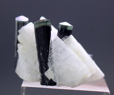 90 Cts Very Beuatiful Green Cap Tourmaline With Albite Specimen From Pakistan