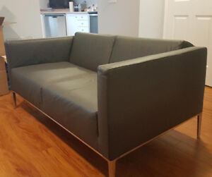 Leather Office - Waiting Room Love Seat & Chair