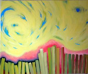 Grande peinture acrylique