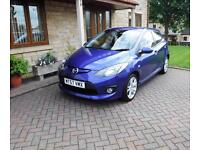 57 reg Mazda2 1.5 Sport 5 Door hatchback Metallic blue ONLY 49000 MILES