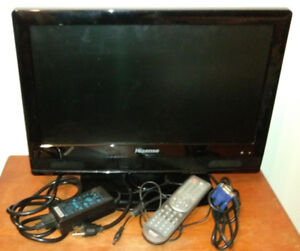TV / DVD Combo - 19 inch LCD Hisense with Remote