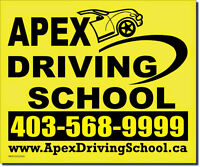 Apex driving school ( SE NW NE SW AND Airdrie )