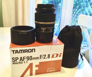 Mint Condition Tamron 90mm f2.8 1:1 Macro for Canon