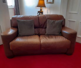 Barker and Stonehouse leather 2seater sofa