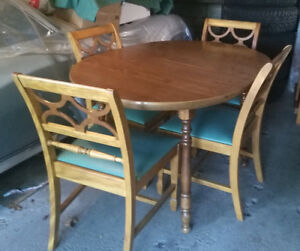 Wooden Dining Table & Chairs