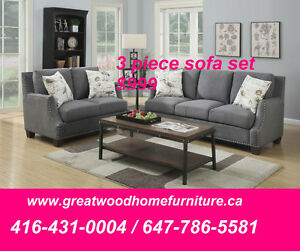 BRAND NEW 3 PIECE FABRIC SOFA SET..$999 ONLY