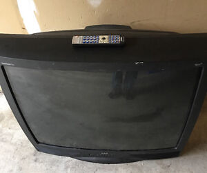"""32"""" Box CRT TV with remote"""