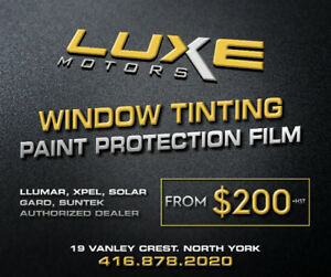 PAINT PROTECTION & WINDOW TINTING