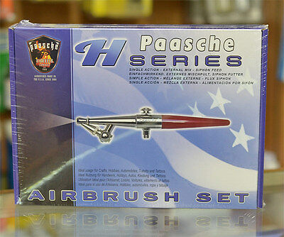 Paasche H-SET Airbrush Set (Single Action External Mix Siphon Feed)