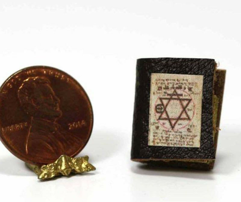 Dollhouse Miniature 1:12 Scale Jewish Book with Leather Cover