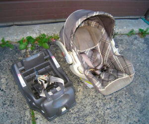 Used Baby Trend Infant Car Seat with car base, 2019 exp. data