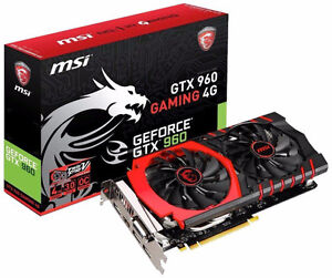 AWESOME condition MSI GTX 960 4GB video card (CARD ONLY)