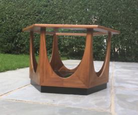 Gplan Mid Century Teak 60s Hexagonal Coffee/ side Table