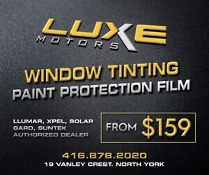 PAINT PROTECTION & WINDOW TINTING FROM $159