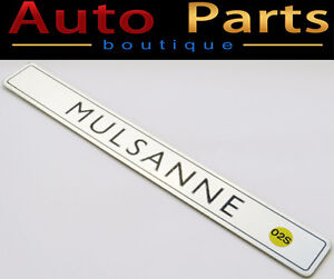 Bentley Mulsanne NEW OEM Genuine Badge 3Y0863697A