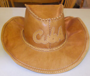Leather Cowboy Hat from Cuba