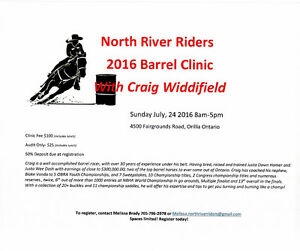 2016 NORTH RIVER RIDERS BARREL CLINIC WITH CRAIG WIDDIFIELD