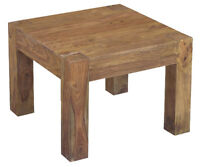 Table coin SHEESHAM massif /Side table SHEESHAM