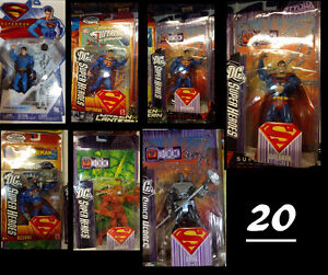 various Superman Action Figures