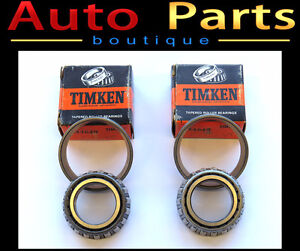 Timken Front Rear Outer Bearing Set of 2 L44649 311405325
