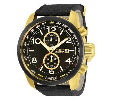 Invicta Men's Aviator 30733 Chronograph 50MM Case Gold/Black Tone Quartz Watch