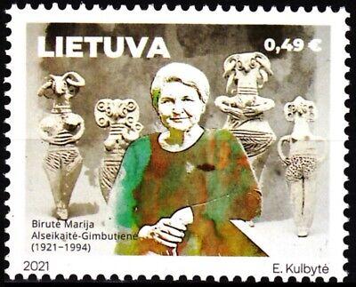 LITHUANIA 2021-02 Science Archaeology: Alseikaite-Gimbutiene - 100, MNH