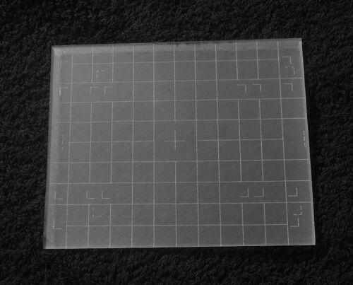 "Engraved 4""x5"" CROWN or SPEED GRAPHIC GROUND GLASS for Graflex Graflok Back"