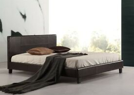 SALE SALE SUMMER OFFER BRAND NEW STRONG LEATHER BED FRAME IN ALL SIZE SINGLE,DOUBLE ,KING SIZE