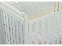 BESPOKE - Anastasia Italian Designer white hand carved cot bed nursery furniture